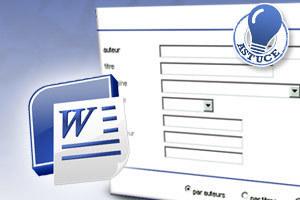 Créer et utiliser un formulaire interactif avec Word 2010 [astuce]   Geeks   Scoop.it