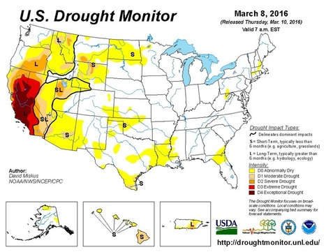 United States #Drought Monitor. Ahum, natural extreme weather. | Messenger for mother Earth | Scoop.it