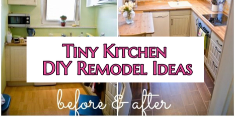 Small Kitchen DIY Ideas – Before & After Remodel Pictures of Tiny Kitchens | For Home | Scoop.it