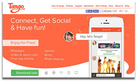 Engadget:  China's Alibaba bets $215 million on chat app Tango | Tango in the news | Scoop.it
