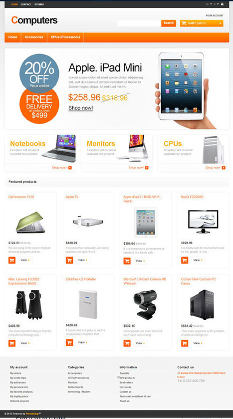 Computers Prestashop Template for e-commerce websites   Web design   Scoop.it