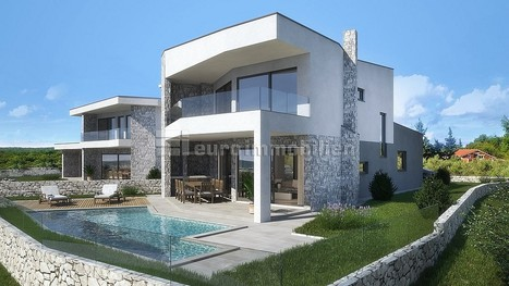 Hiša na otoku Krk 175 m2 novogradnja roh bau z vrtom in pogledom na morje | Nepremičnine Hrvaška | Scoop.it