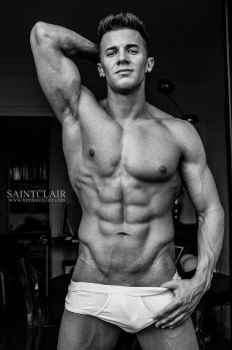 Sexy Nicolas Jordy Shirtless by Tom Saint Clair - Shirtless Hunk Photos | FlexingLads | Scoop.it