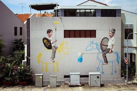 Street Art in Singapore by Ernest Zacharevic   ART   Scoop.it