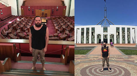 Apology from Parliament House to man who was asked to turn Aboriginal flag singlet inside out   Indigenous Culture, Our Roots   Scoop.it