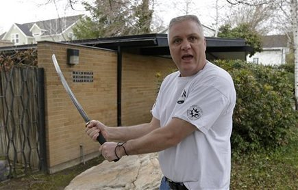 Mormon bishop with Samurai sword saves neighbor from attack | Strange days indeed... | Scoop.it