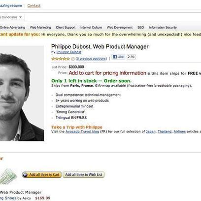 Is This Fake Amazon Page the Best Online Resume Ever? | Creativity in Business | Scoop.it