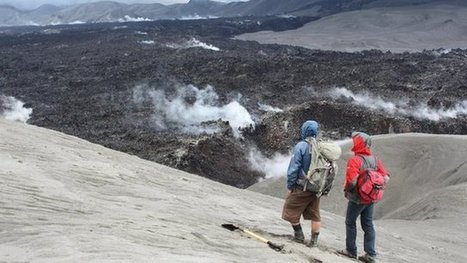 Volcanic obsidian lava flows for a year - BBC News | Geology | Scoop.it