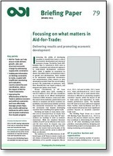 Focusing on what matters in Aid-for-Trade | International aid trends from a Belgian perspective | Scoop.it