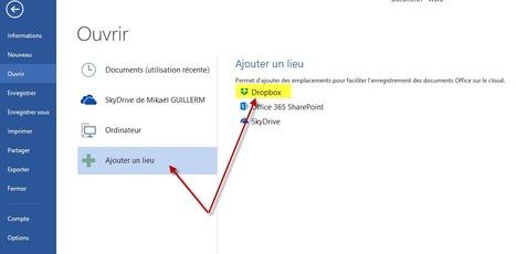Comment ajouter Dropbox ou Google Drive sur le «Cloud Storage» d'Office 2013 | Time to Learn | Scoop.it