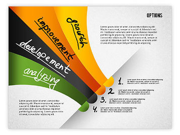 Four Step Tilted Options Banner | PowerPoint Diagrams, Charts, and Shapes | Scoop.it