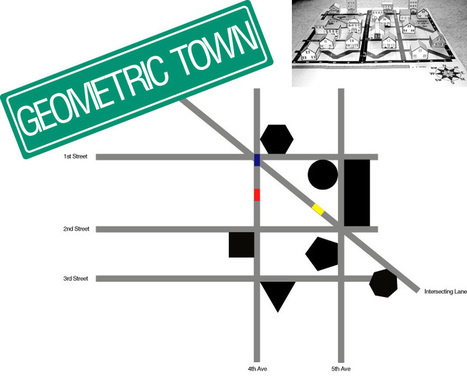 E is for Explore!: 2D and 3D Geometric Towns | K-12 Web Resources - Math | Scoop.it