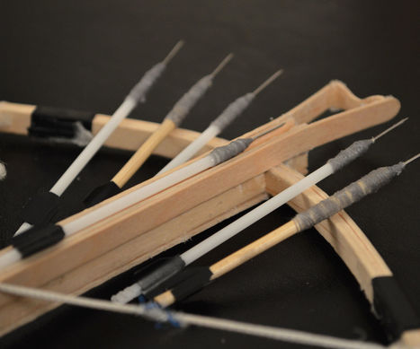 How to Make Mini Crossbow Bolts/Arrows | Needlestick | Scoop.it