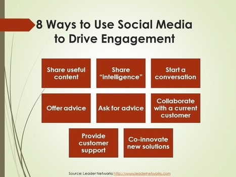8 Ways to Use Social Media to Drive Engagement | Social Media sites | Scoop.it