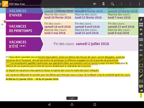 Pdf Max Free: Une excellente solution pour annoter des pdf sur Android et iOS   Time to Learn   Scoop.it