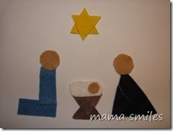 Geometric Shapes Nativity Scene - mama smiles | Simple Christmas | Scoop.it