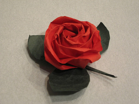 Kawasaki Rose and leaf | Made with (and of) Paper | Scoop.it