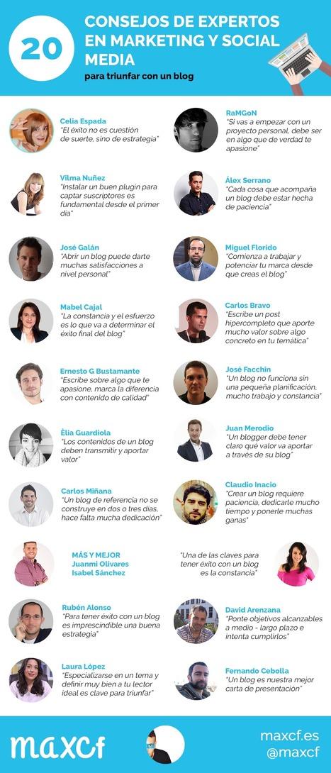 20 consejos de expertos para triunfar con un blog   maxcf   EDUCANDO EN LA SOCIEDAD DEL CONOCIMIENTO   Scoop.it