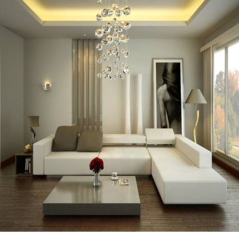 Classy Living Room with Modern Sofa and Fabulous Butterfly Chandelier | Simple Decorating Ideas For Home | Scoop.it