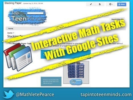 Creating Interactive Math Tasks With Google Sites | Educational technology , Erate, Broadband and Connectivity | Scoop.it