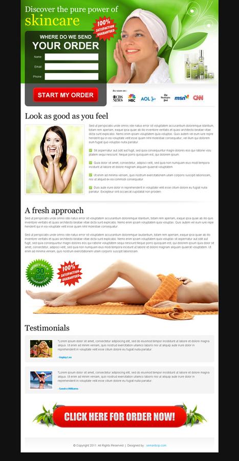 High converting skin care landing page design templates for sale. | Web Design, Landing Page Design & Website Templates Blog | Landing page design | Scoop.it