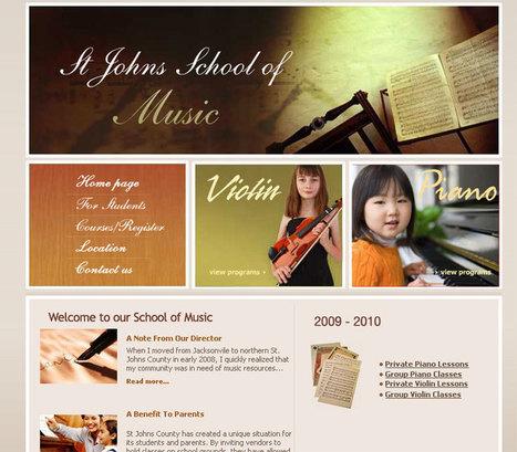 St. Johns School of Music - web design | Web design | Scoop.it