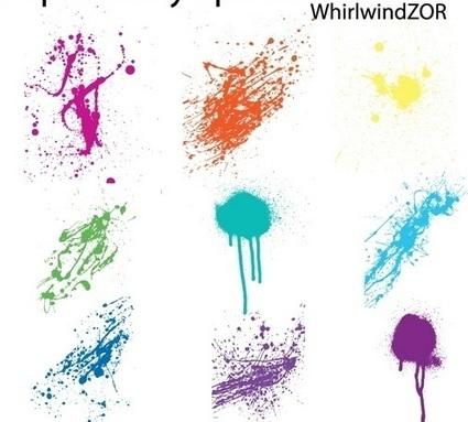 15 sets of Free Illustrator Splatter Brushes and Vector | El Mundo del Diseño Gráfico | Scoop.it