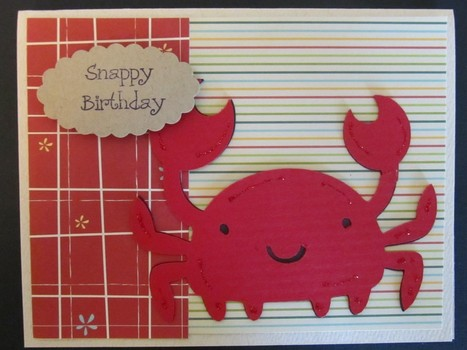 Crab Cricut Card Using Create A Critter Cartridge - News - Bubblews | P.S. I Love You Paper Arts and Crafts | Scoop.it