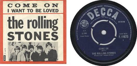"""7 juin 1963 : """"Come on"""" - 1er 45 tours des Rolling Stones (enregistré le 10 mai 1963)   Que s'est il passé en 1963 ?   Scoop.it"""
