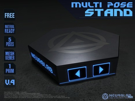 1 Prim Multi Pose Stand 1L Promo by Neurolab Inc | Teleport Hub - Second Life Freebies | Second Life | Scoop.it