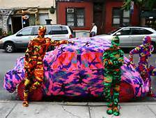 Olek NYC | One Man's Personal Interest: An Exploration of Street Art and Propaganda | Scoop.it