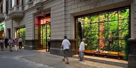 Jardín VERTICAL en tienda Replay de Barcelona | Jardines Verticales y azoteas verdes. | Scoop.it