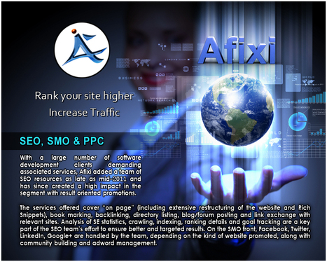 SEO, SMO And PPC Service Provided By Afixi Technologies. | Web Development | Scoop.it