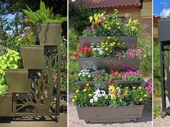 Tiered Mobilegro Rolling Container Garden is Ideal for Small-Space Planting | Local Economy in Action | Scoop.it