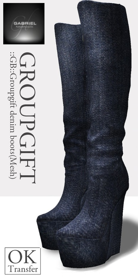 Mesh Denim Boots Group Gift by Gabriel | Teleport Hub | Jeans Fashion | Scoop.it