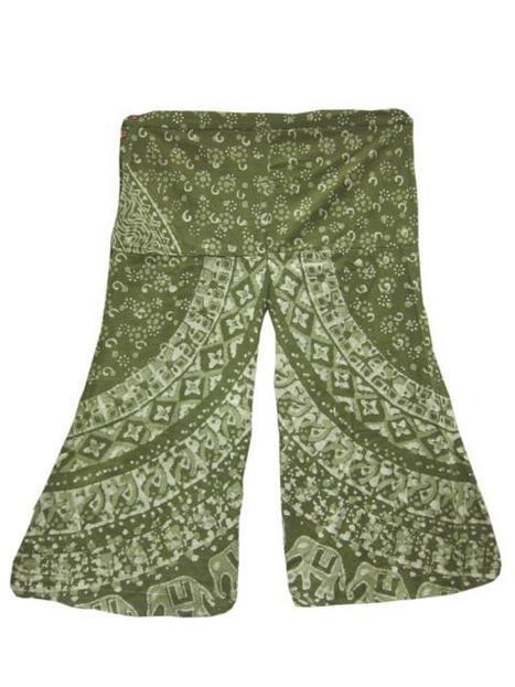Sea Green Vintage Style Wide Leg Gaucho Capri Palazzo Pants | Bohemian Fashion | Scoop.it