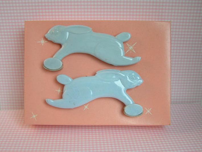 New Vintage Baby Blanket Holders Pink or Blue by sweetlilystudio | Antiques & Vintage Collectibles | Scoop.it