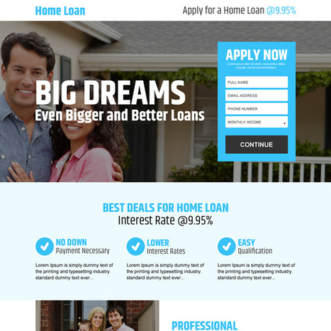 best deals for home loan online application lead capturing landing page design | buy landing page design | Scoop.it