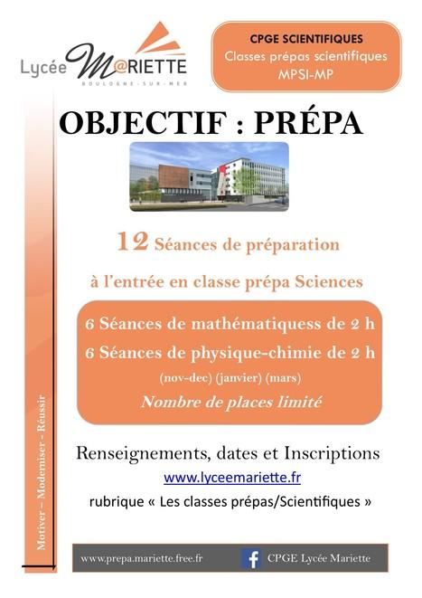 Objectif : Prépa | Actualité lycéenne  Lycée Mariette | Scoop.it