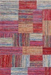 Rugsville Patchwork Textured Sari Silk 13621 Red Blue | Modern and Contemporary Rugs | Scoop.it