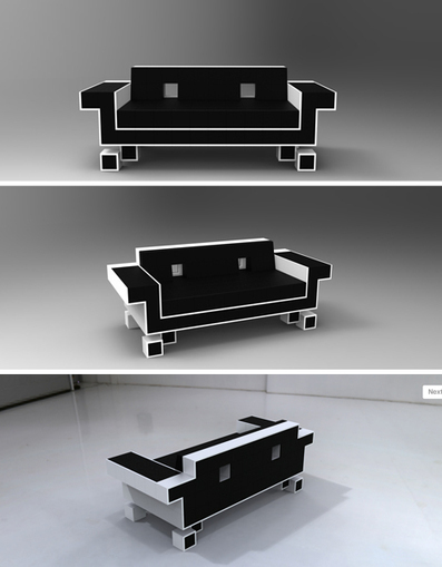 Geek Chic: Space Invader Couch and Donkey Kong Shelves | Industrial Design | Scoop.it