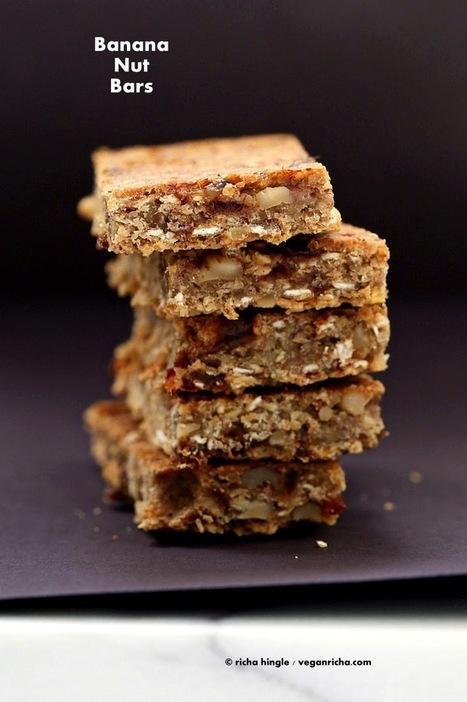 Banana Nut Snack Bars. Vegan Glutenfree Recipe | Vegan Richa | My Vegan recipes | Scoop.it