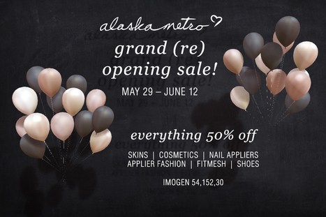 Grand Reopening Sale Cosmetics And Fashion - NessMarket | 亗 Second Life Freebies Addiction & More 亗 | Scoop.it
