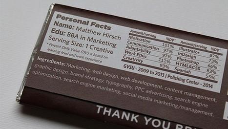 Il crée son CV sur un packaging de tablette de chocolat pour séduire les recruteurs | Technobel - Centre de compétence TIC | Scoop.it