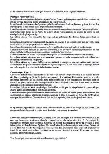 [INFO] La charte des Veilleurs debout - Le Rouge & le Noir | Le Printemps Français, kézako? | Scoop.it