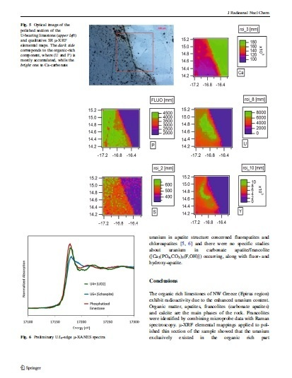 #Uranium - bearing francolites present in organic-rich limestones of NW #Greece | Mineralogy, Geochemistry, Mineral Surfaces & Nanogeoscience | Scoop.it