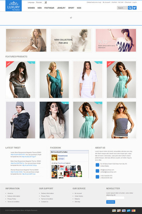 Luxury, Magento Premium Responsive Apparel Clothing Theme | Premium Download | Social Luxury | Scoop.it
