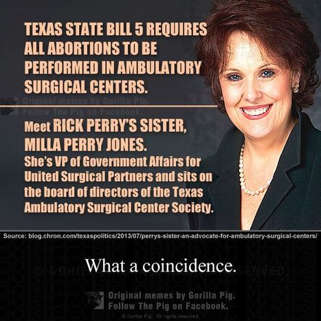 Follow the money to Texas.   Coffee Party Feminists   Scoop.it