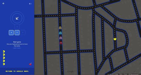 Google Maps as a game of Pac-Man | Geography Education | Scoop.it