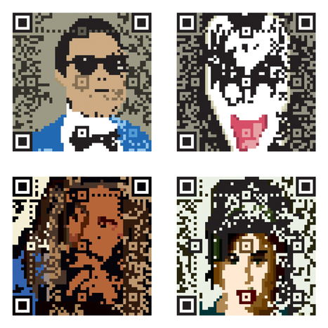 pretty QRCODE illustrated | artcode | Scoop.it